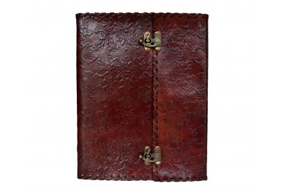 Handmade Leather Journal Diary Mens Day Organizer Planner garden flower Embossed